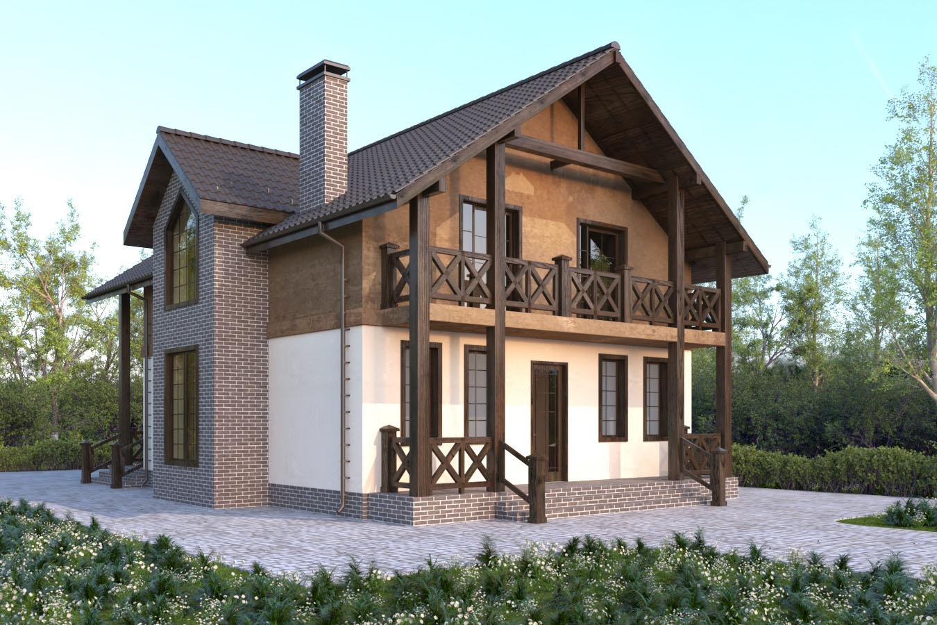 каменный дом по проекту Мюнхен